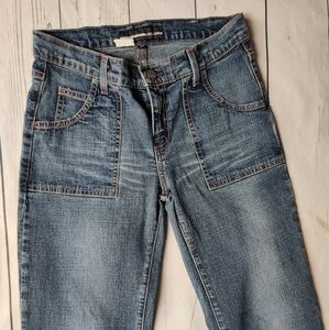 Bebe Bootcut Blue Jeans